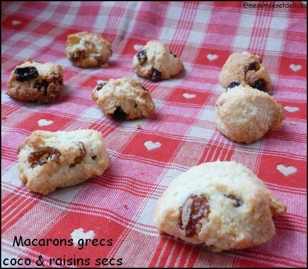Macarons grecs coco & raisins secs