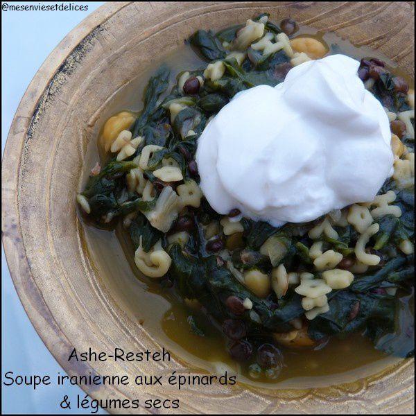 Ashe Resteh - soupe iranienne aux épinards