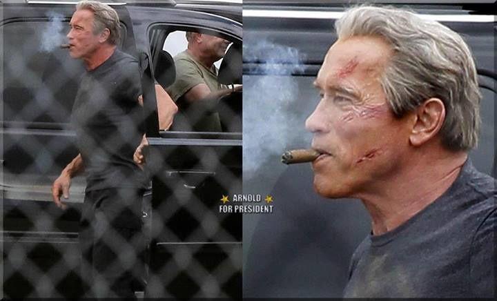 Terminator Genesis : 1° photos de Schwarzy : T-800