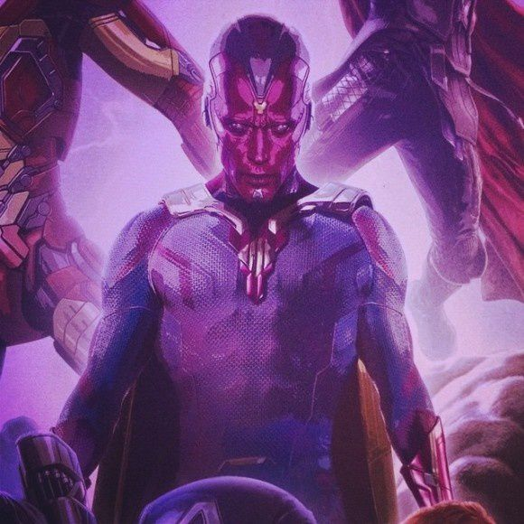 Avengers : AOU : Vision en poster
