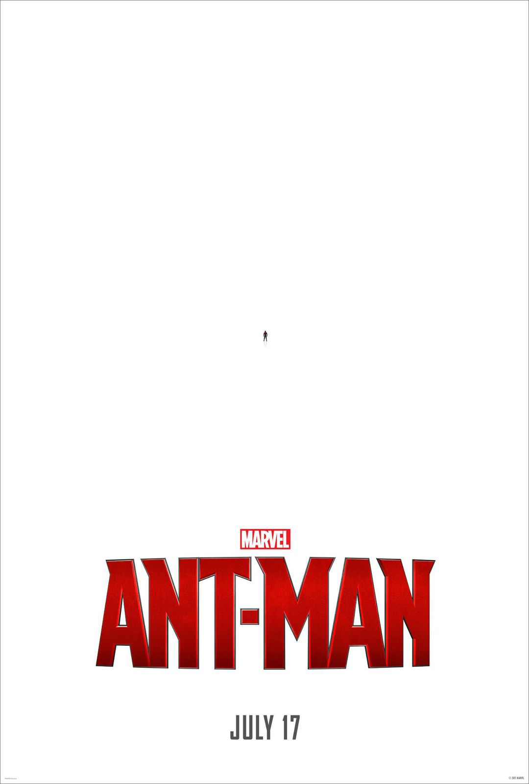 Ant-Man 1° poster officiel