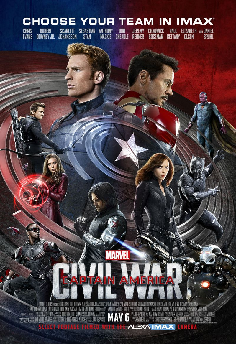 Captain America : Civil War : poster Imax &amp&#x3B; clips
