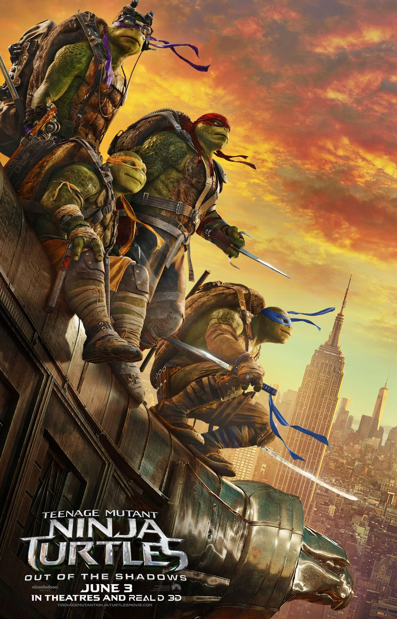 Ninja Turtles : Out Of The Shadows : new Poster