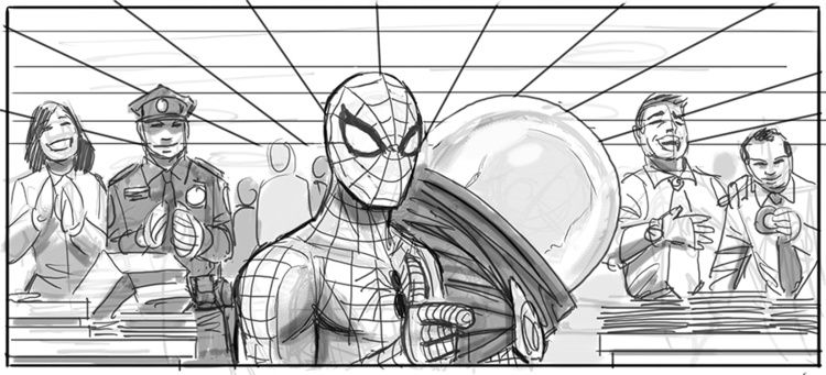 What if Spider-Man 4 : story boards