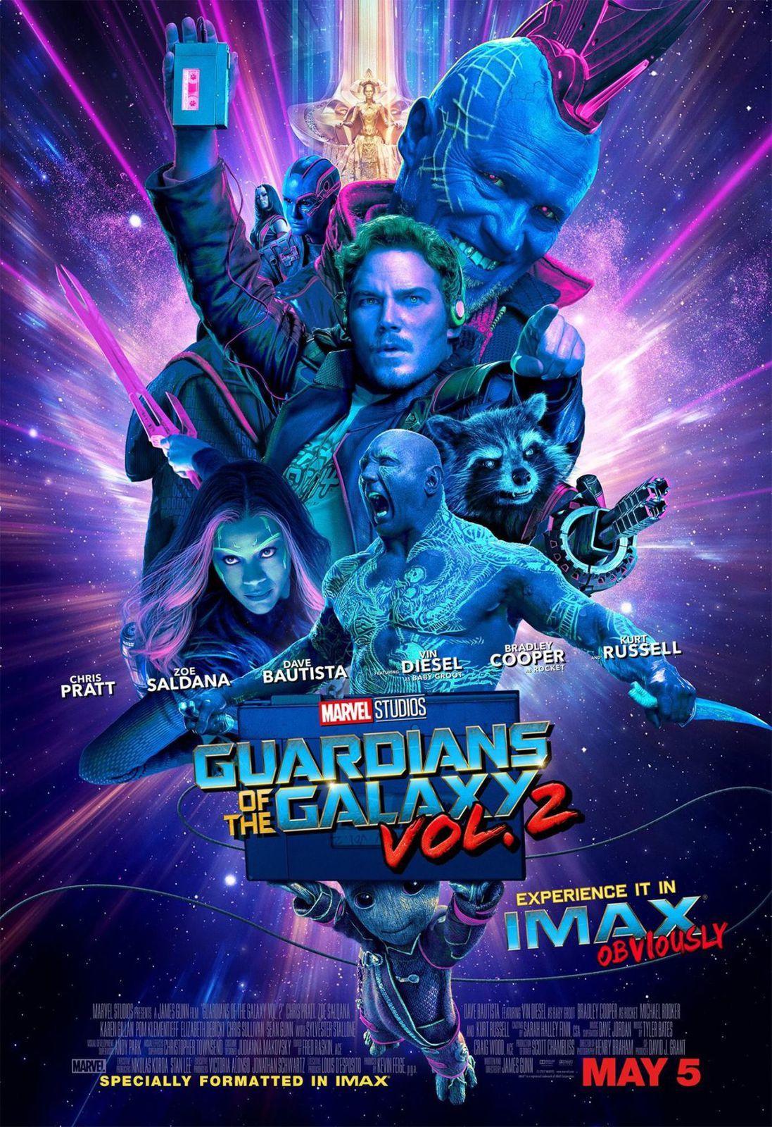 Les gardiens de la Galaxie vol 2 : poster Imax