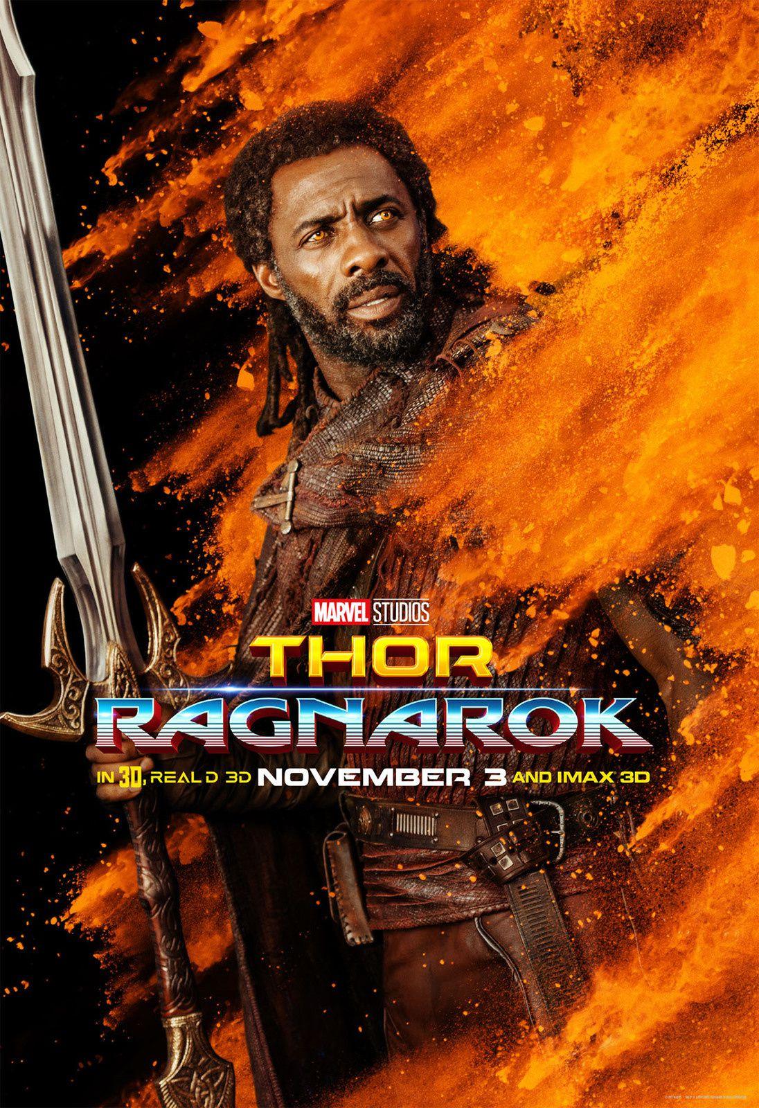 Thor ragnarok : 9 posters colorés