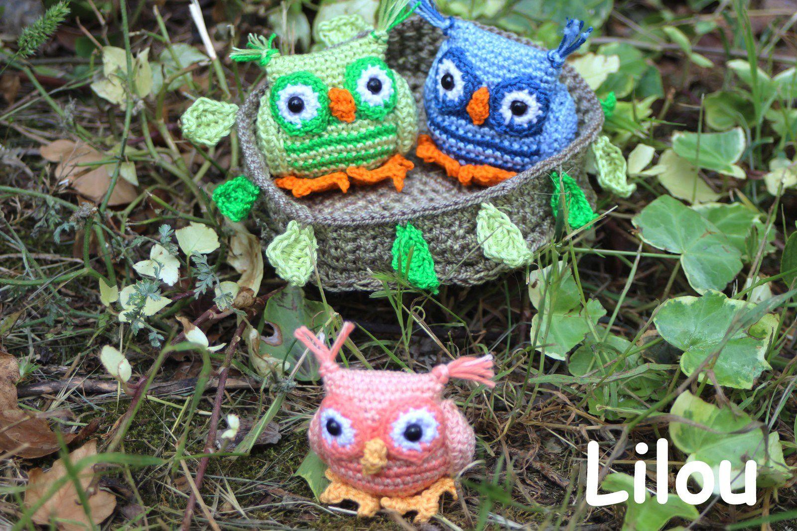 Hibou au crochet DIY modele tuto gratuit