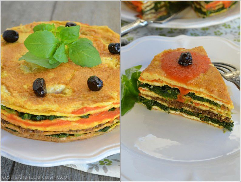 Millefeuille d'omelettes