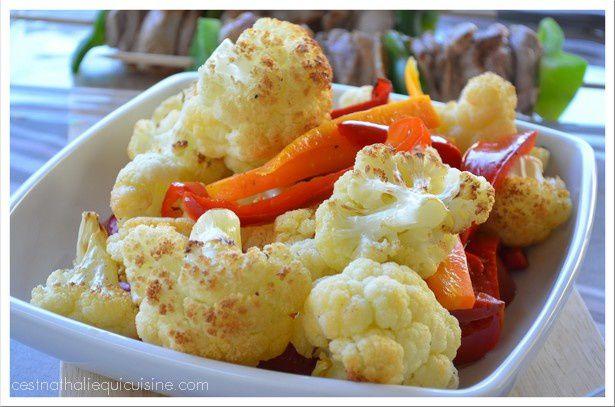 Chou-fleur et autres légumes grillés