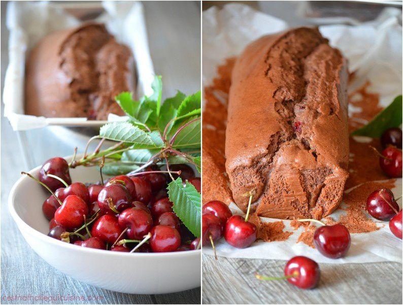 Cake au chocolat et aux cerises