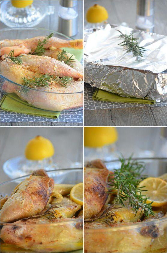 Cuisses de poulet citron &amp&#x3B; romarin