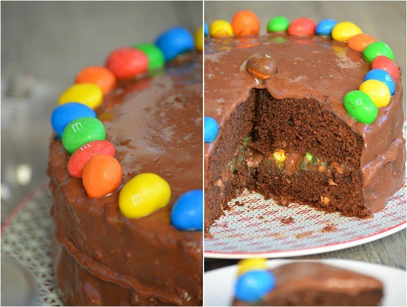 Gâteau au chocolat &amp&#x3B; m&amp&#x3B;m's pour Culino Versions