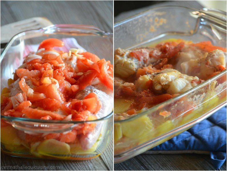 Lotte a la provençale et ses pommes de terre...cuisson basse température
