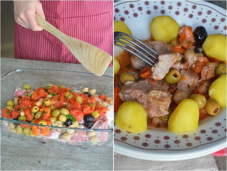 Sauté de veau aux olives...cuisson à l'omnicuiseur