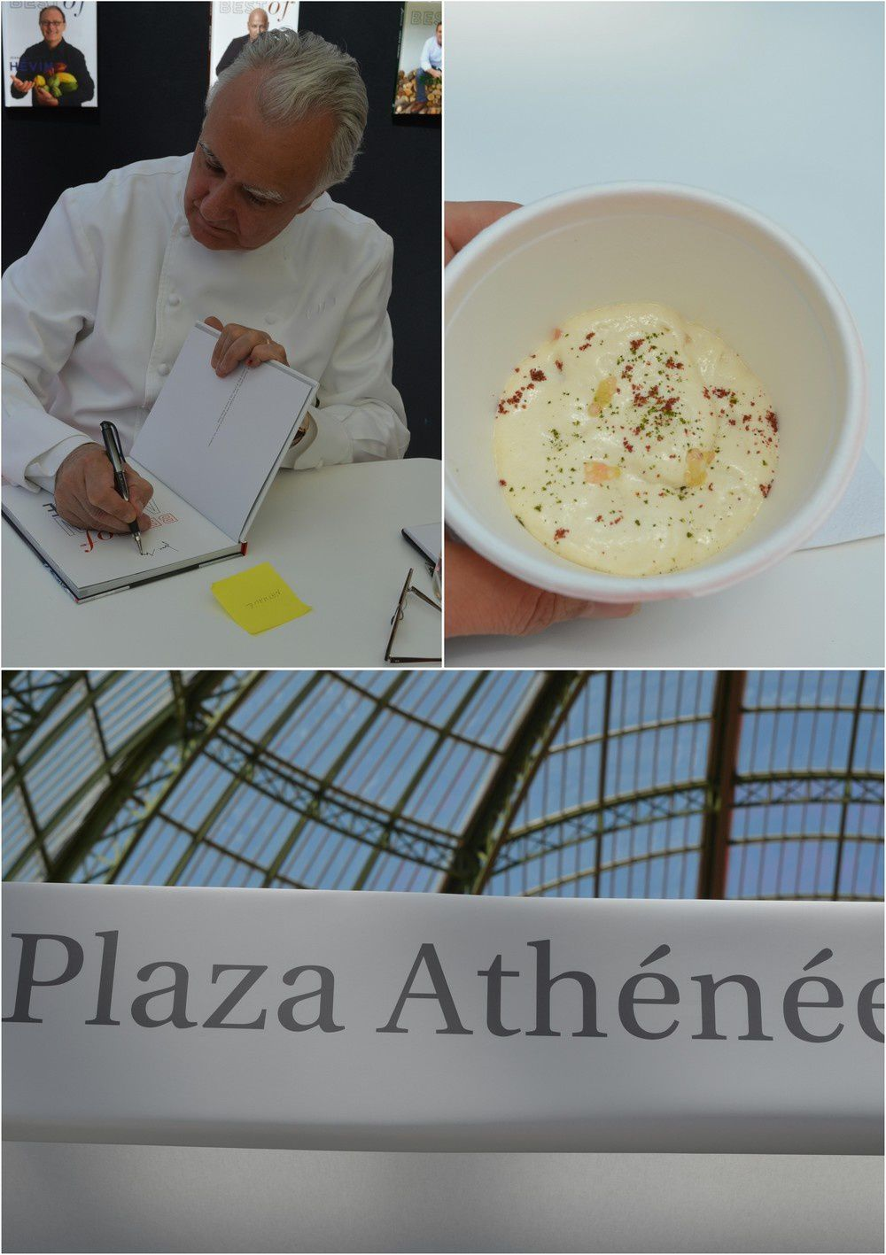 """Alain Ducasse au Plaza Athénée...avec son plat signature """"Pois Chiche des Hautes Alpes et poisson mariné"""" Une explosion de saveurs!"""