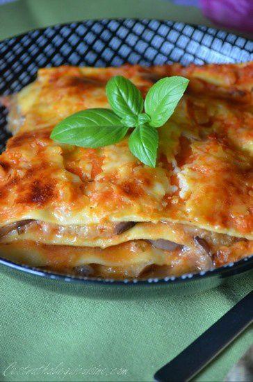 Lasagnes d'aubergines et parmesan