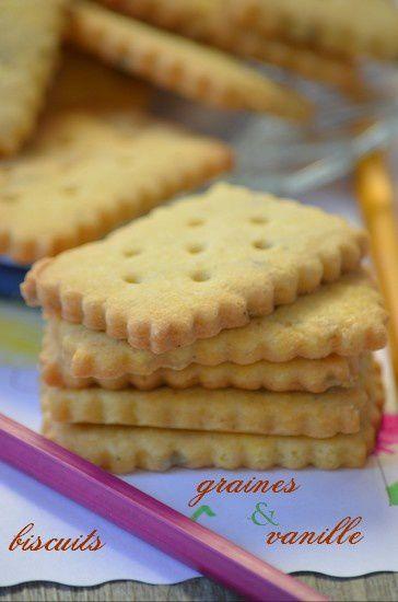 Biscuits vanille et graines de tournesol