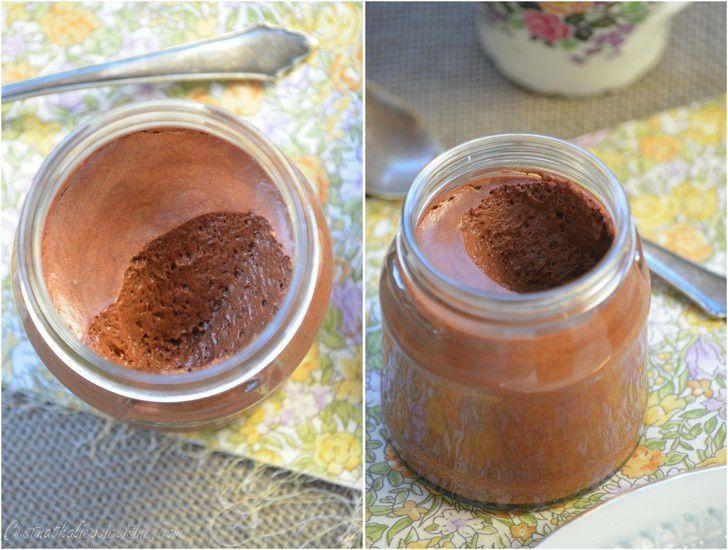 Mousse au chocolat vegan {Pois chiche}