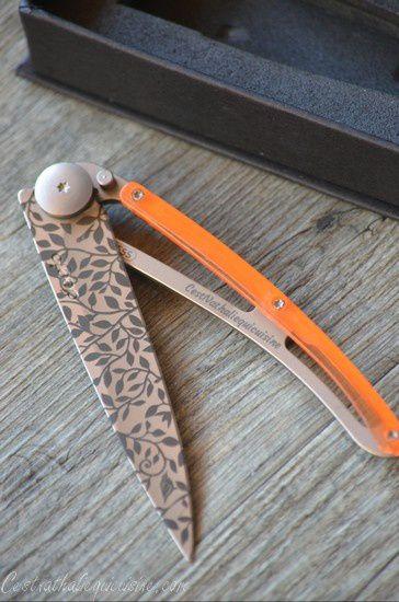 Mon couteau personnalisé Deejo