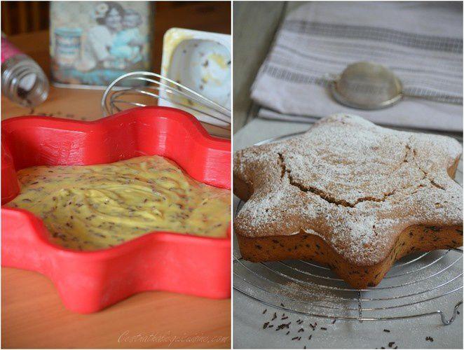Gâteau au yaourt et vermicelles de chocolat