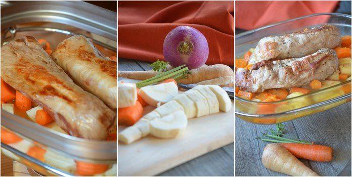 Filet mignon et légumes d'automne panaïs, carotte et navet {Cuisson à l'omnicuiseur}