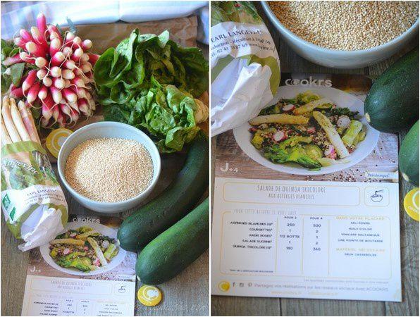 Salade de quinoa aux asperges dans ma box Cookrs
