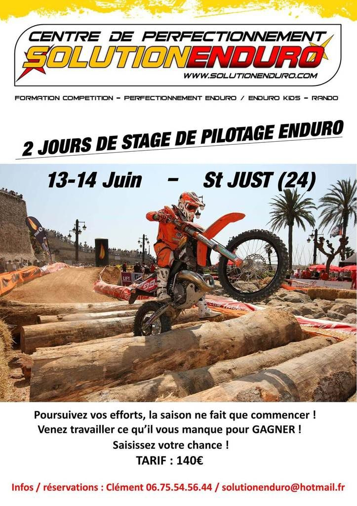 Stage enduro le 13 et 14 juin 2015 avec Solution Enduro à St Just (24)