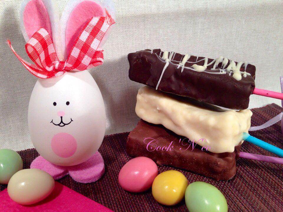 Sucettes de guimauve au chocolat (pour une douzaine)