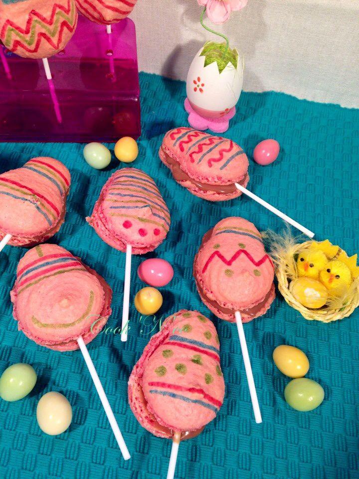Sucettes macarons de Pâques