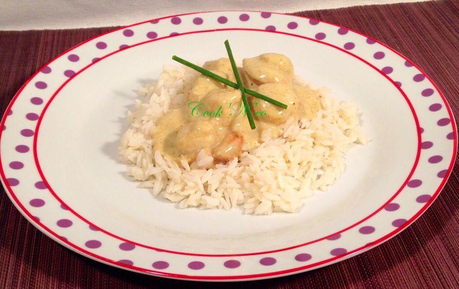 Saint-Jacques au curry et lait de coco (pour 4 personnes)