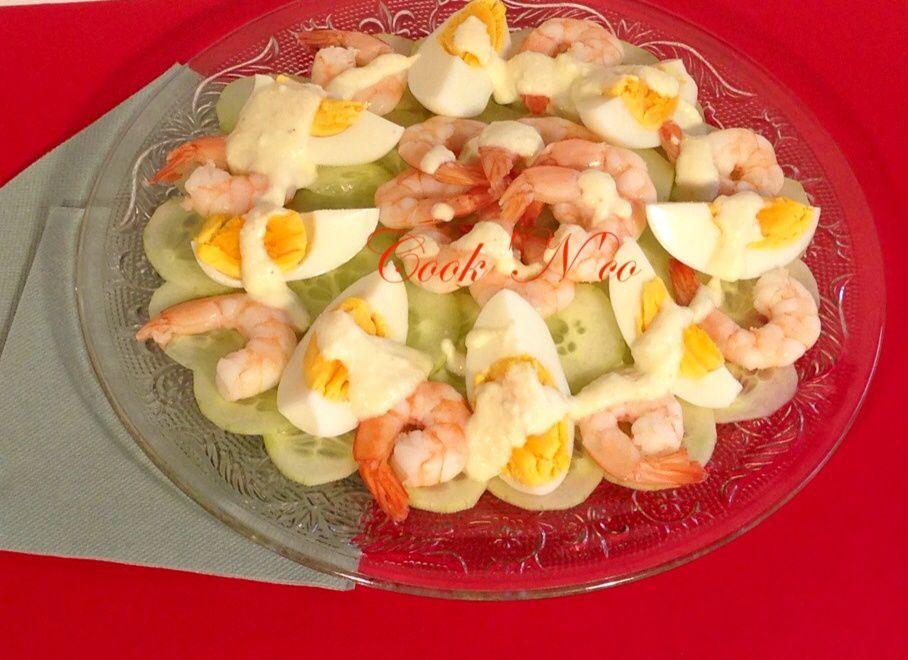 Salade de concombre aux crevettes #recette allégée (pour 4 personnes)