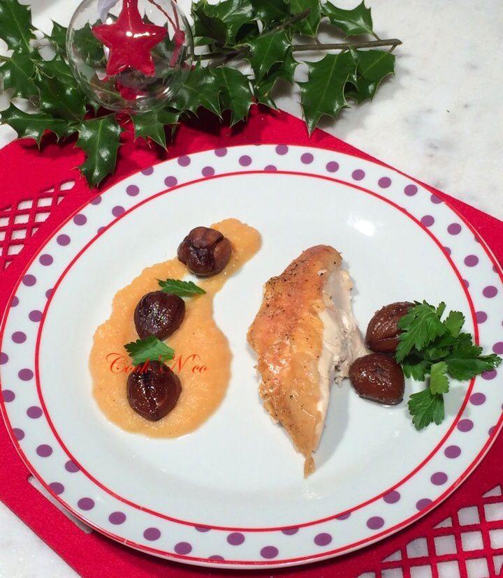 Poulet aux marrons et sa purée de potiron (pour 6 personnes)