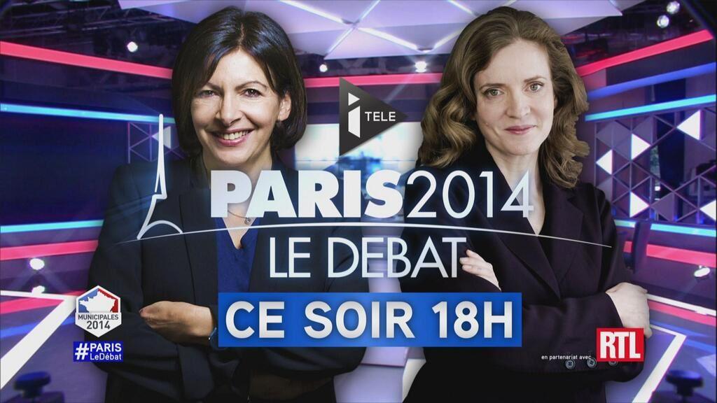 Débat Hidalgo/NKM ce mercredi dès 18h sur I>Télé et RTL