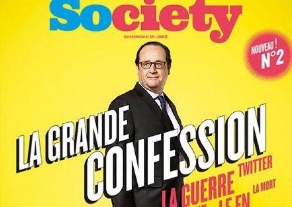 Une du magazine Society avec François Hollande