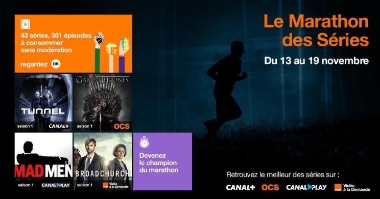 """""""Marathon des series"""" (Orange)"""