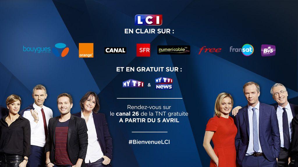 LCI disponible en clair sur les box et en gratuit sur l'offre digitale du groupe TF1