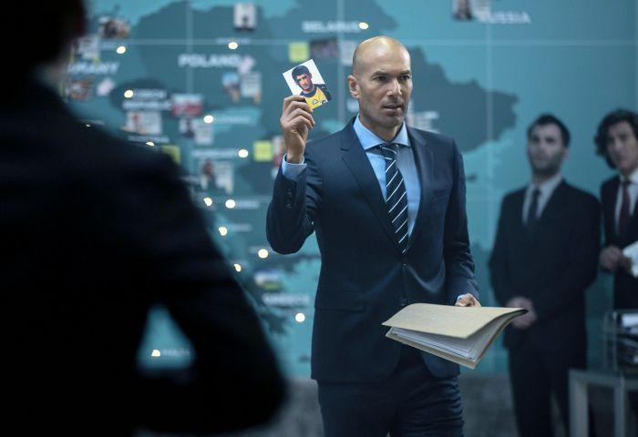 """""""Zinédine Zidane dans une publicité pour Orange"""" (© Orange)"""