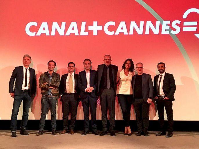L'équipe de Canal+ pour le festival de Cannes (© Canal+ / Hugues Chavignon)