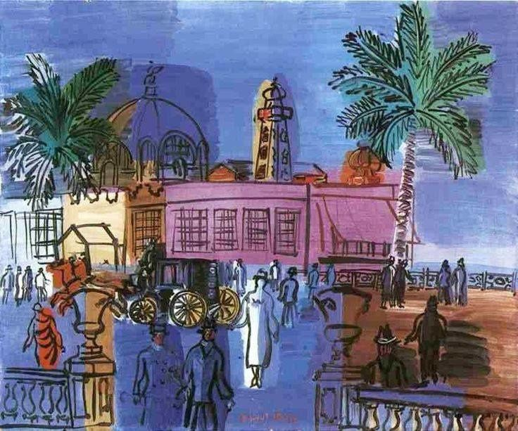 Nice vu par Raoul Dufy en 1928