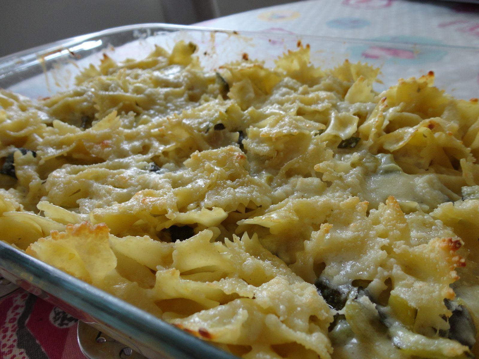 gratin de p 226 tes courgettes gorgonzola parmesan fourchettes et pinceaux