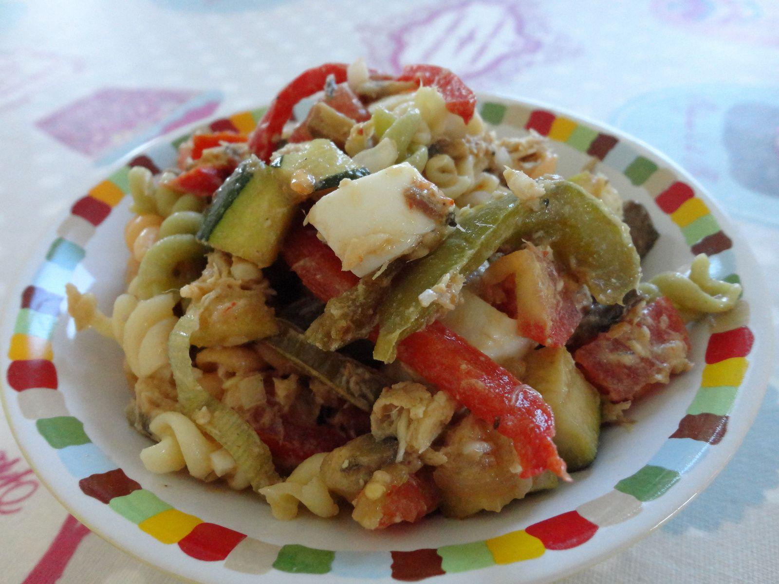 salade de pates au maquereau