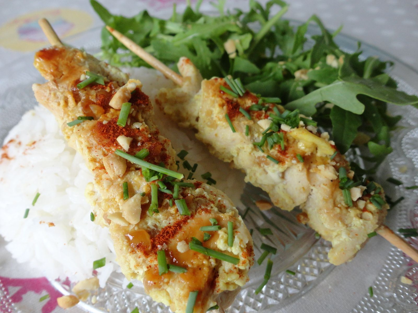 Brochettes de poulet saveurs asiatiques