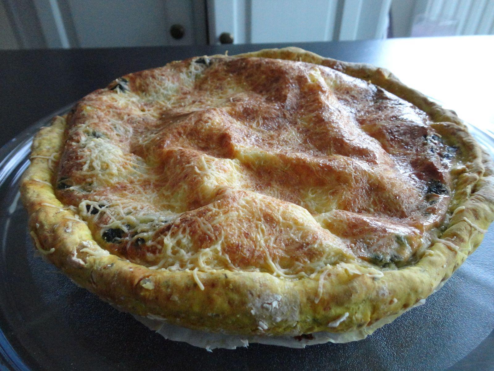 Tarte aux épinards (pâte à pain)