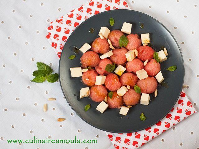 Salade de pastèque et fromage