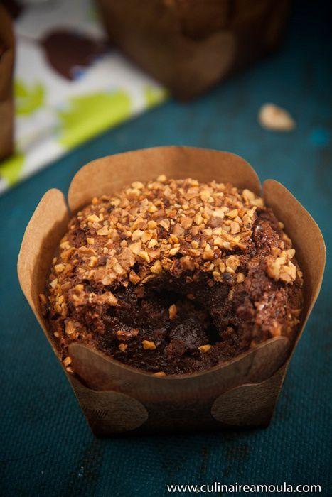 Fondant au chocolat et pralin-noisette
