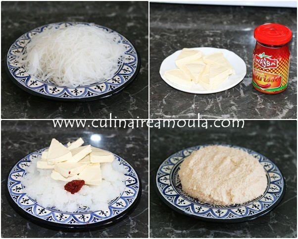 Brioutes au vermicelle de riz et fromage la vache qui rit