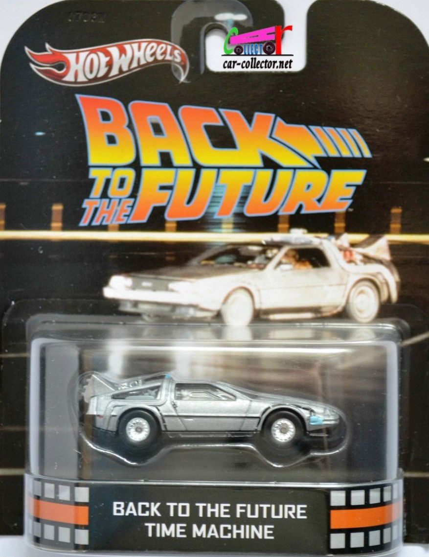 DELOREAN TIME MACHINE BACK TO THE FUTURE RETRO ENTERTAINMENT HOT WHEELS 1/64