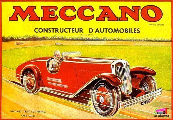 CARTE POSTALE MECCANO CONSTRUCTEUR D'AUTOMOBILES