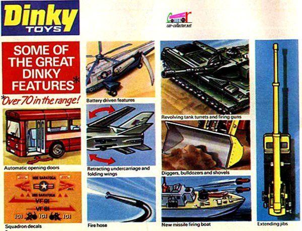 CATALOGUE DINKY TOYS 1974