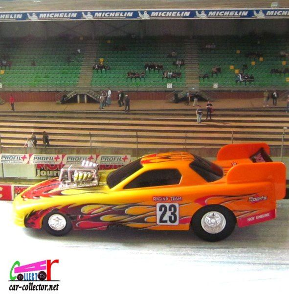 SOUND DRAGSTER DICKIE TOYS ECHELLE 1/36 ENVIRON